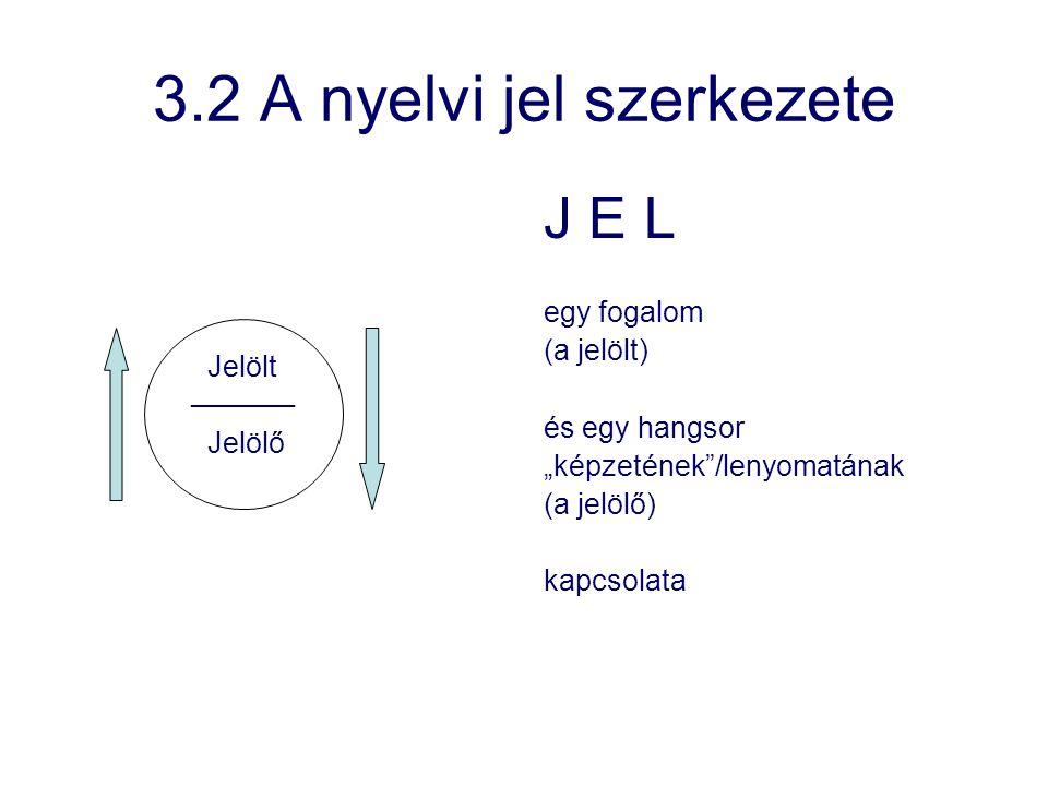 3.2 A nyelvi jel szerkezete