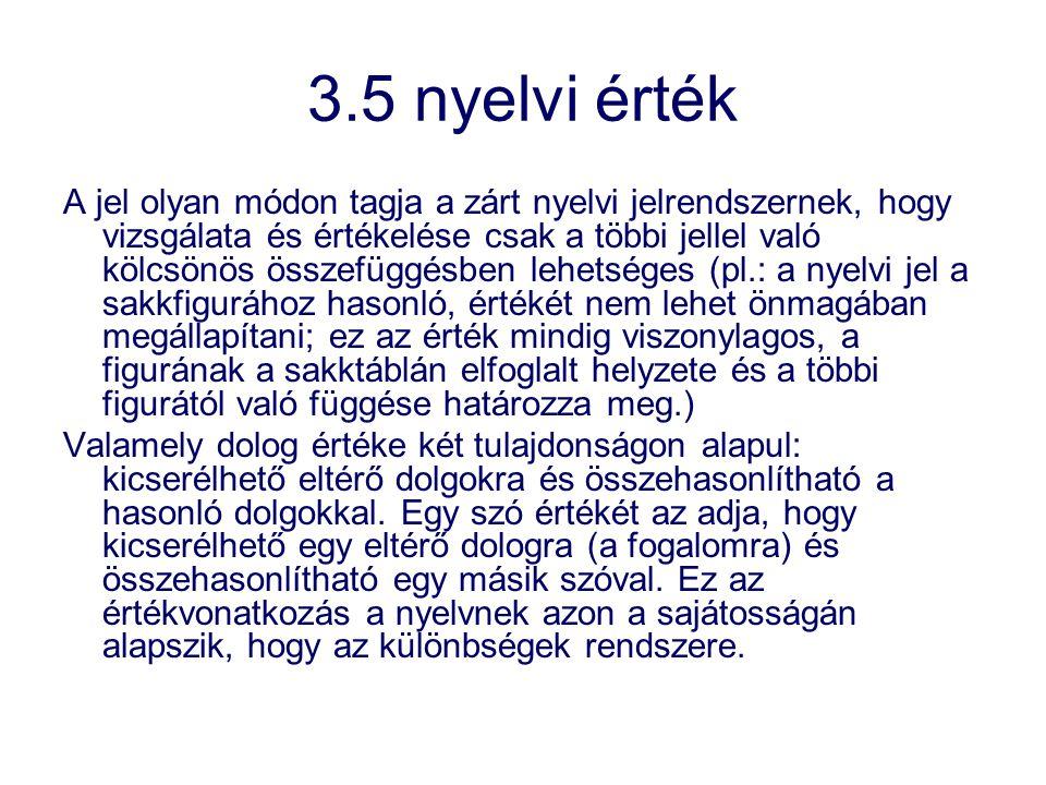 3.5 nyelvi érték