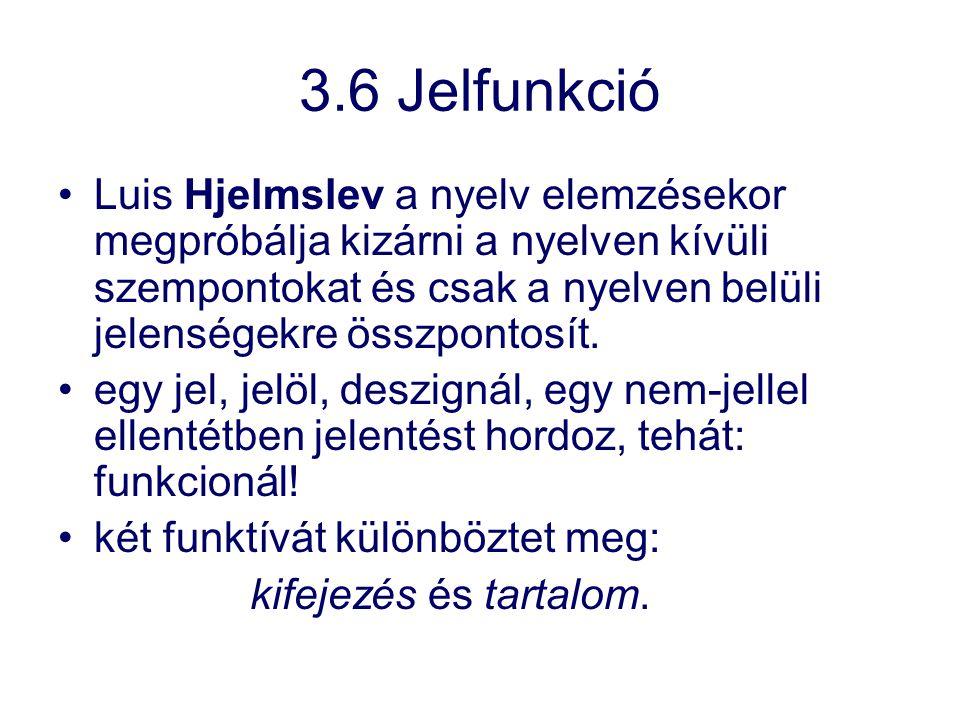 3.6 Jelfunkció