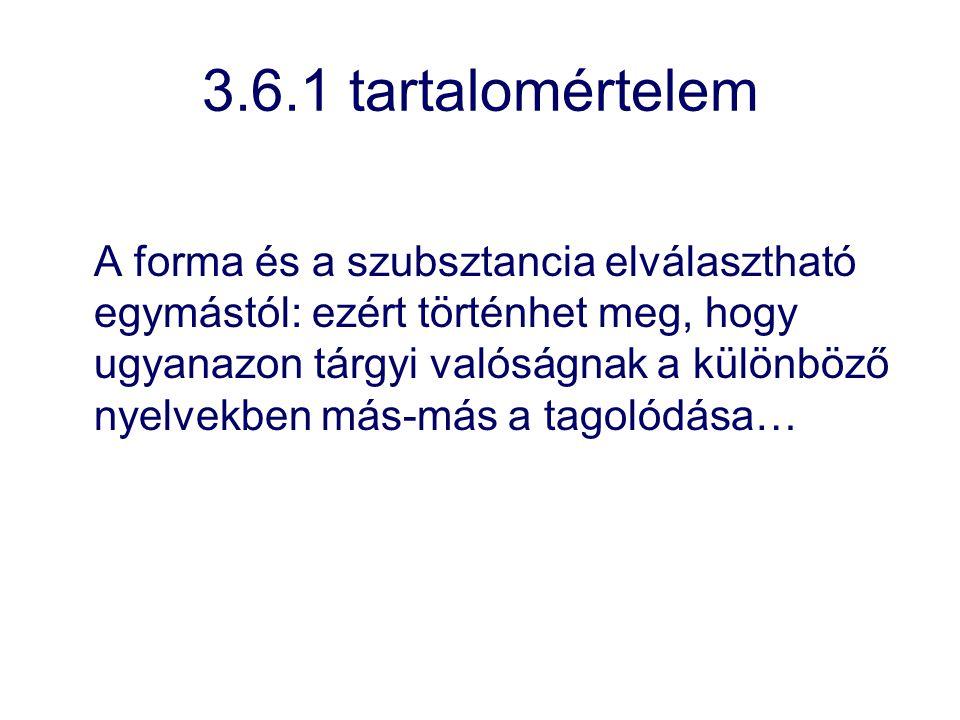 3.6.1 tartalomértelem