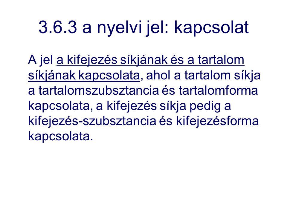 3.6.3 a nyelvi jel: kapcsolat