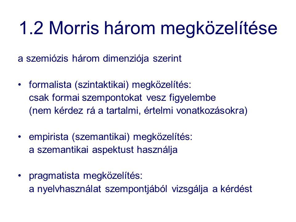 1.2 Morris három megközelítése