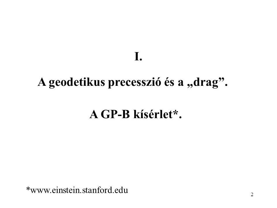 """A geodetikus precesszió és a """"drag ."""