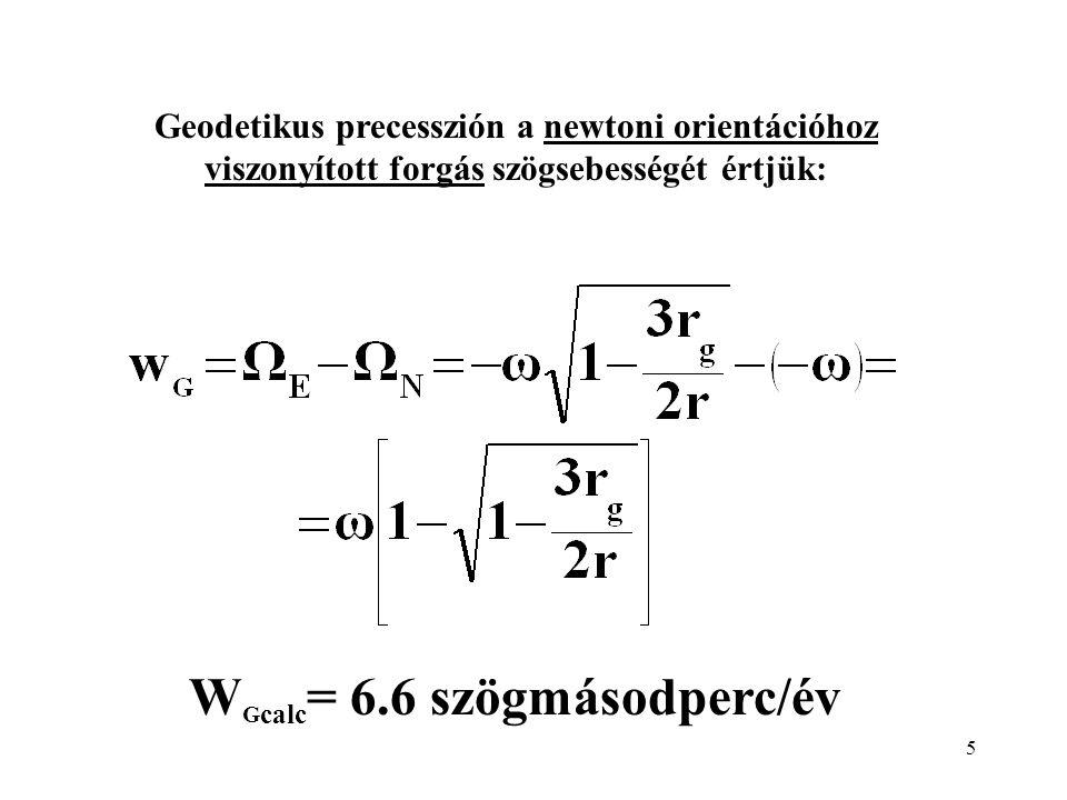 WGcalc= 6.6 szögmásodperc/év