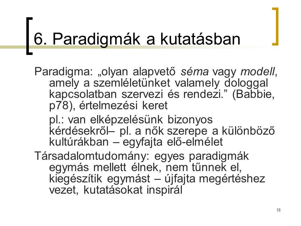 6. Paradigmák a kutatásban