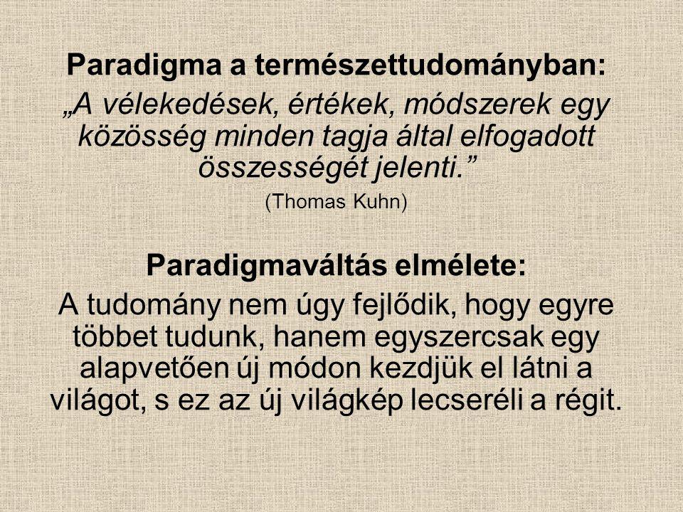 Paradigma a természettudományban: