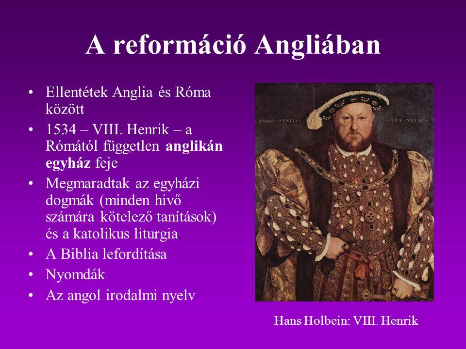 A reformáció Angliában