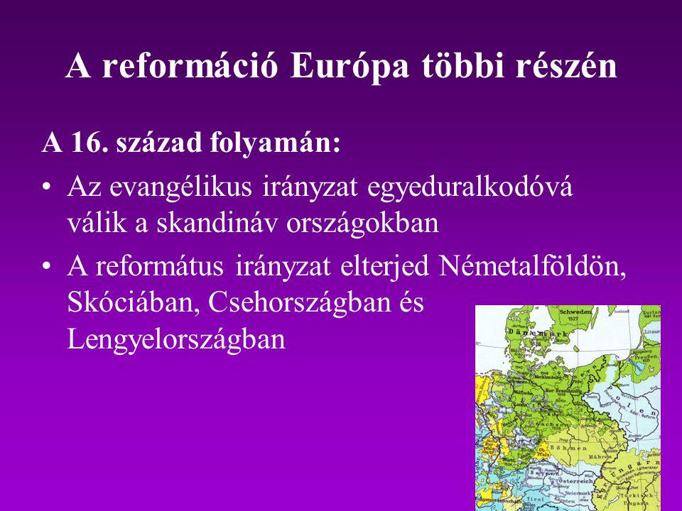 A reformáció Európa többi részén