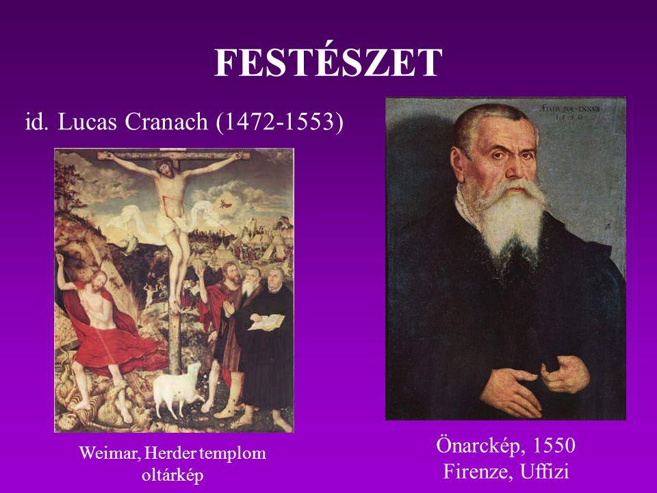 FESTÉSZET id. Lucas Cranach (1472-1553) Önarckép, 1550 Firenze, Uffizi