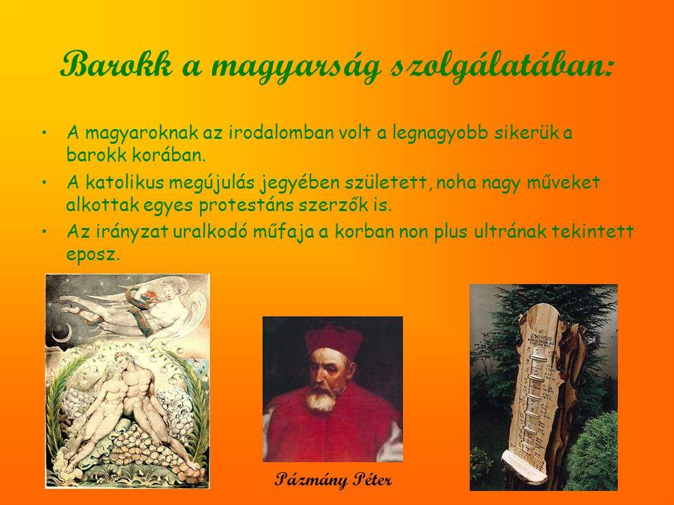Barokk a magyarság szolgálatában: