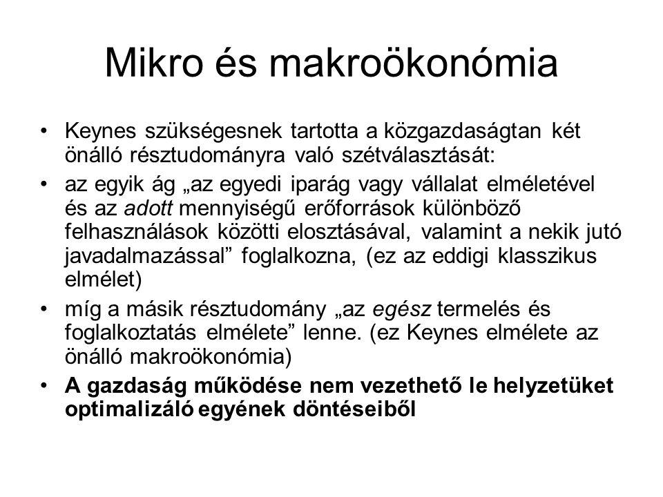 Mikro és makroökonómia