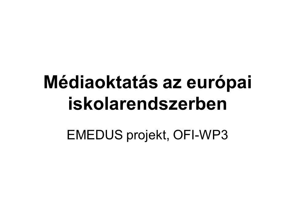 Médiaoktatás az európai iskolarendszerben