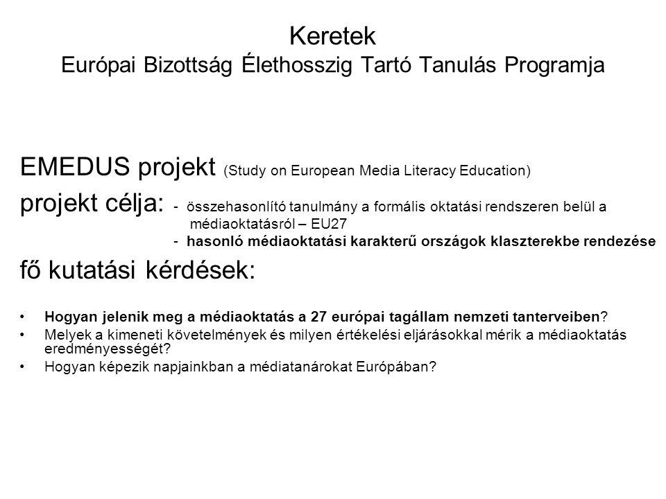 Keretek Európai Bizottság Élethosszig Tartó Tanulás Programja