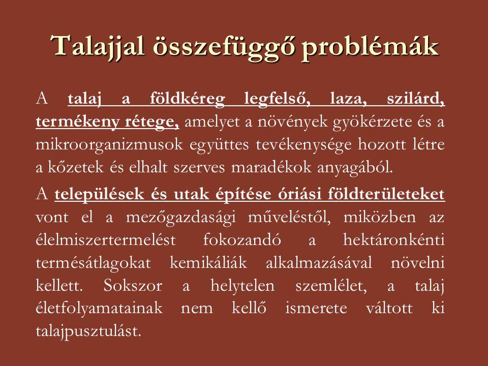 Talajjal összefüggő problémák