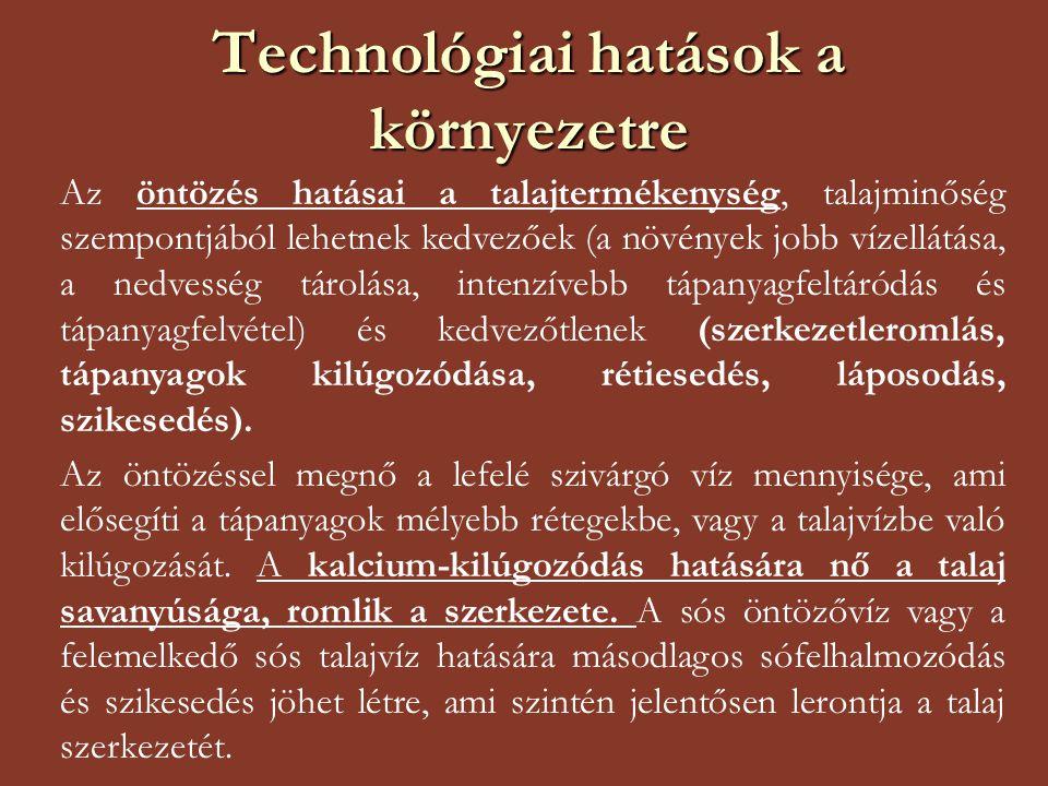 Technológiai hatások a környezetre