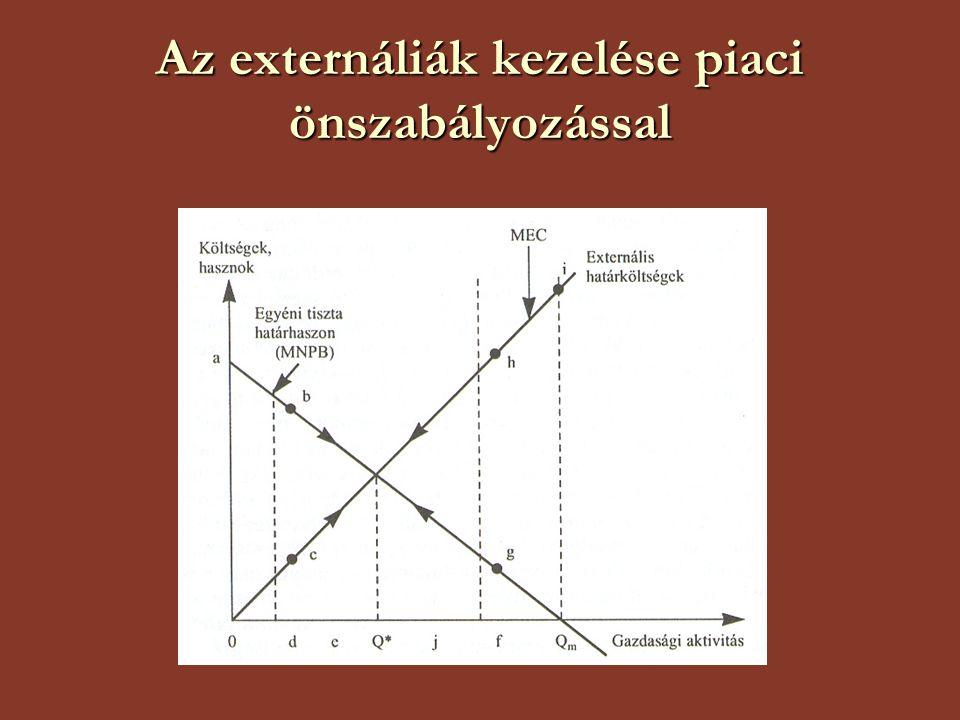 Az externáliák kezelése piaci önszabályozással