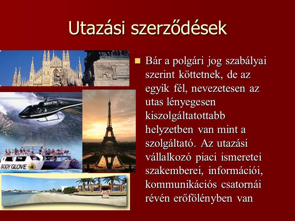 Utazási szerződések