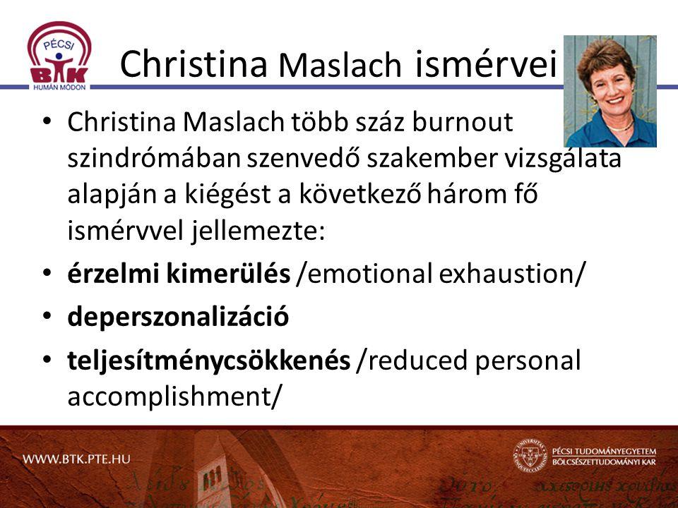 Christina Maslach ismérvei
