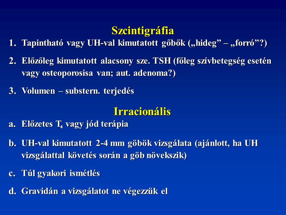 Szcintigráfia Irracionális 1. 2. 3. a. b. c. d.