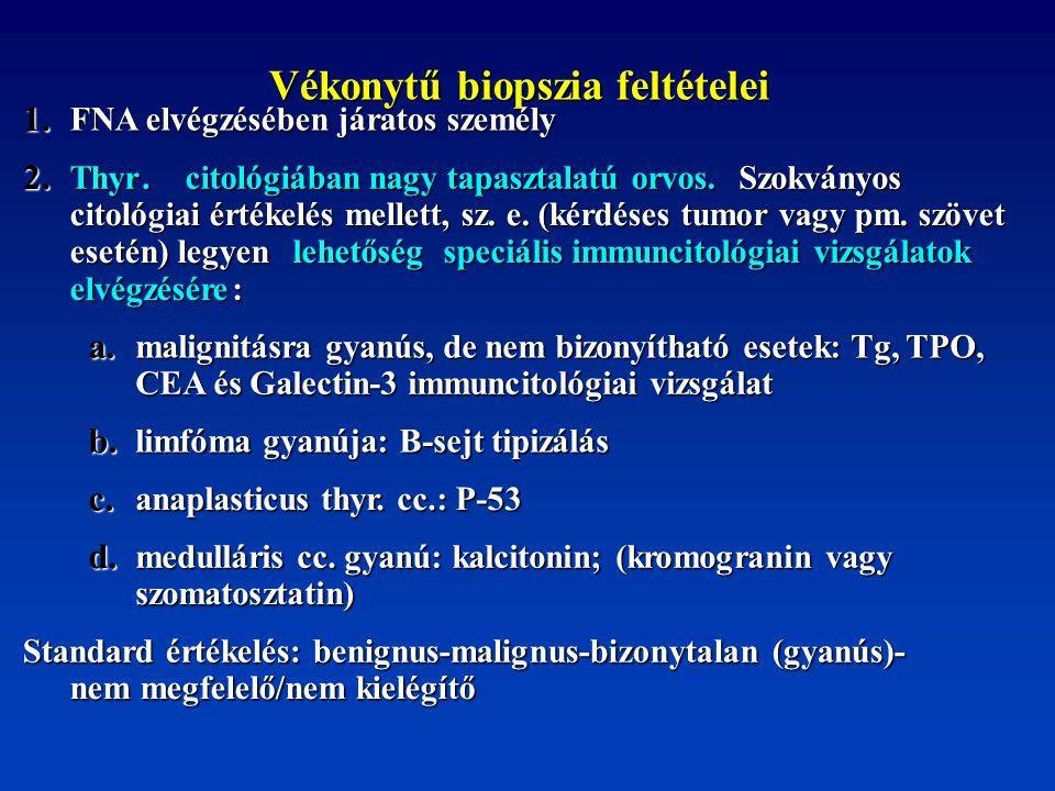 Vékonytű biopszia feltételei