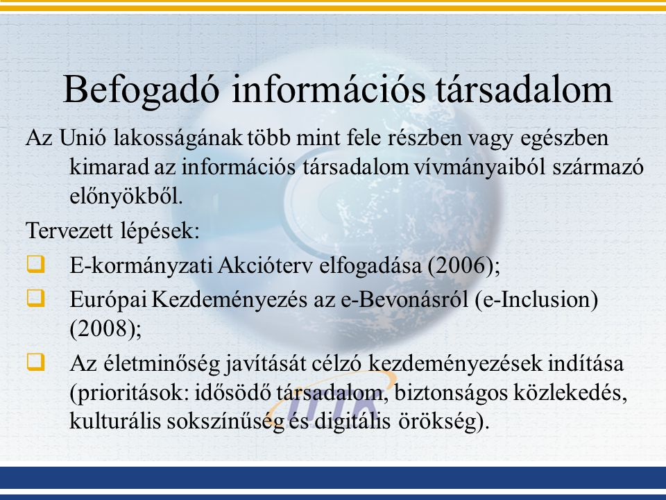 Befogadó információs társadalom
