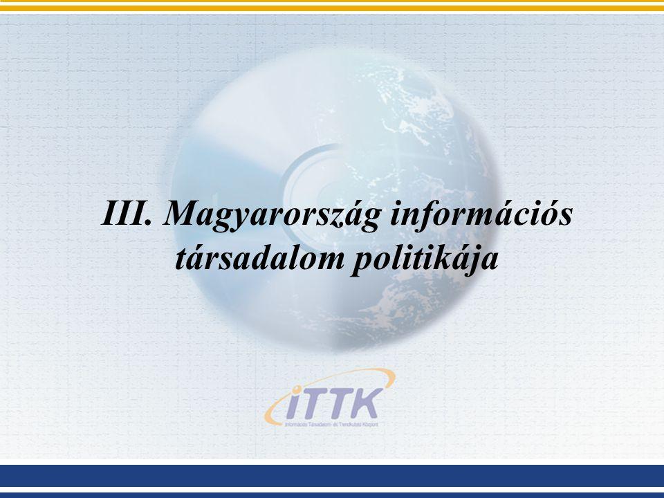 III. Magyarország információs társadalom politikája