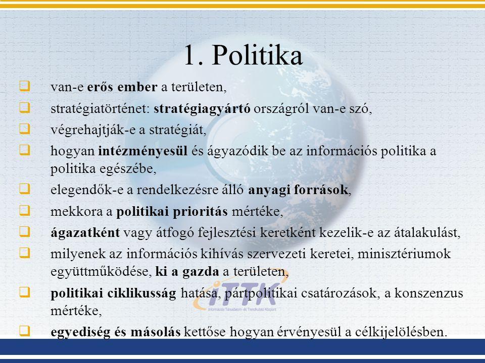 1. Politika van-e erős ember a területen,