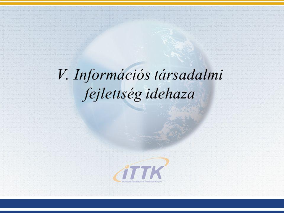 V. Információs társadalmi fejlettség idehaza