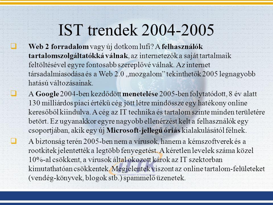 IST trendek 2004-2005