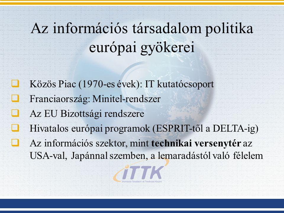 Az információs társadalom politika európai gyökerei