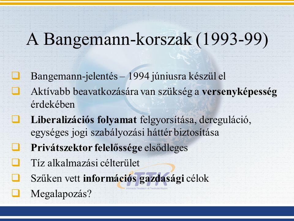 A Bangemann-korszak (1993-99)