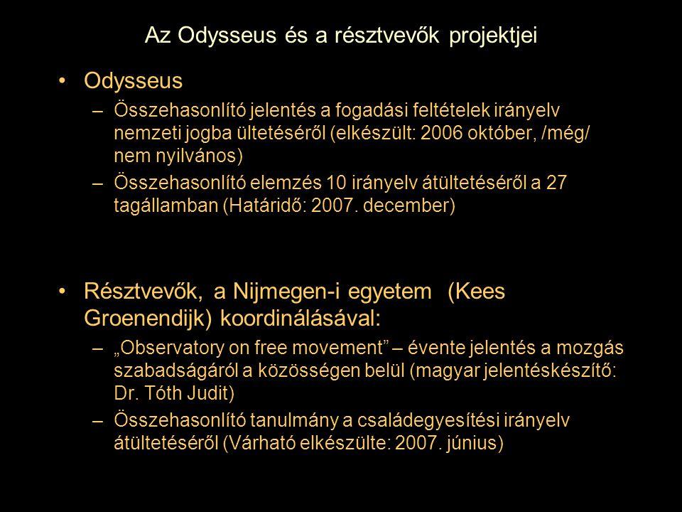 Az Odysseus és a résztvevők projektjei