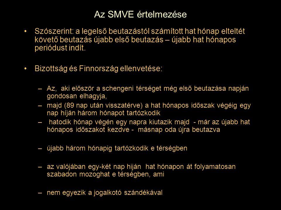 Az SMVE értelmezése