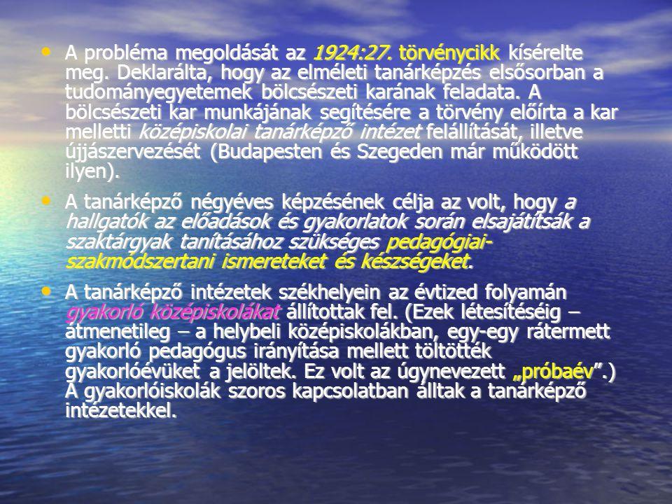 A probléma megoldását az 1924:27. törvénycikk kísérelte meg