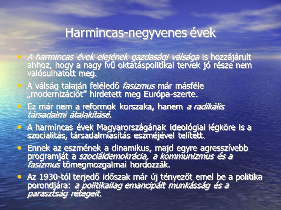 Harmincas-negyvenes évek