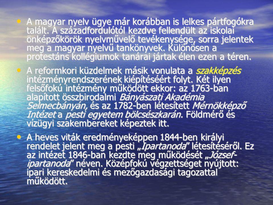 A magyar nyelv ügye már korábban is lelkes pártfogókra talált
