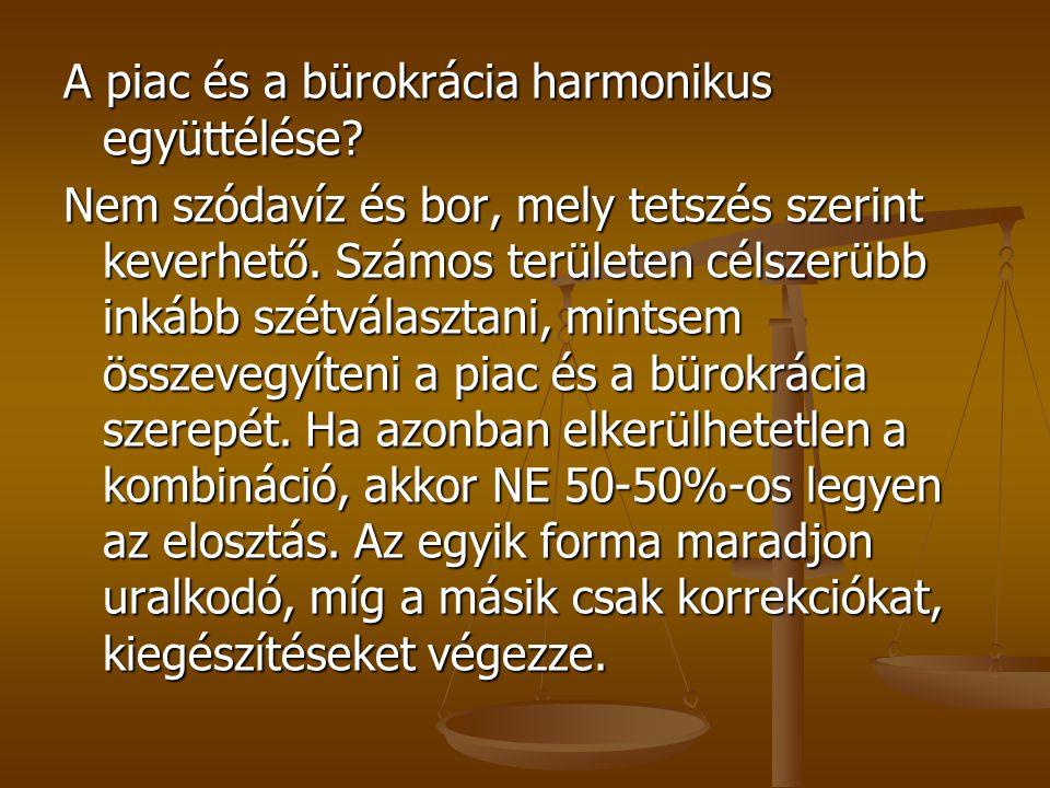 A piac és a bürokrácia harmonikus együttélése