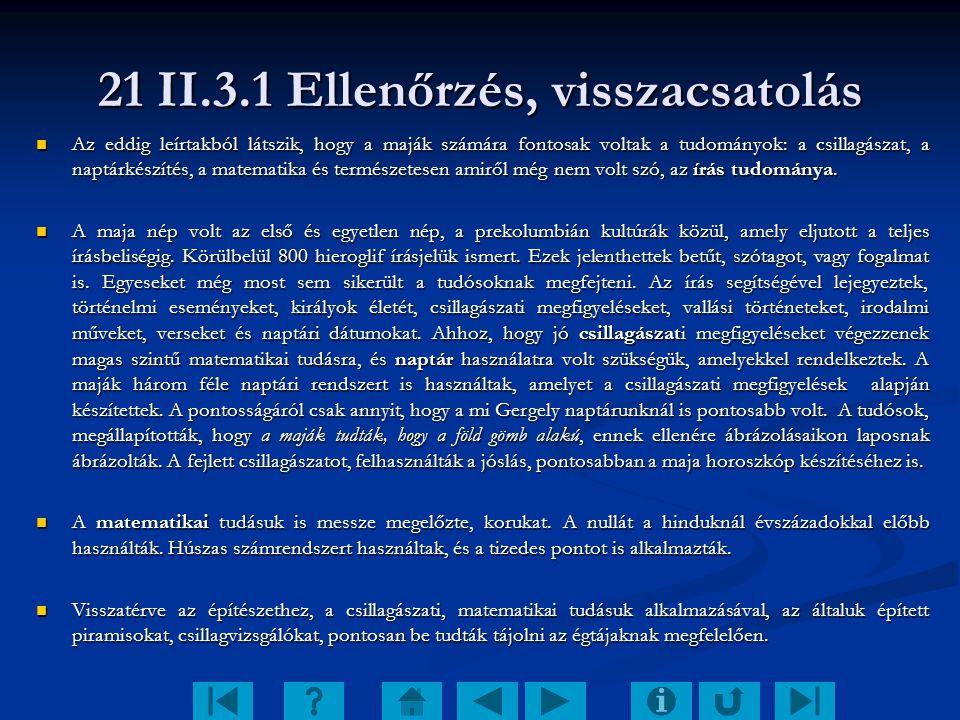 21 II.3.1 Ellenőrzés, visszacsatolás