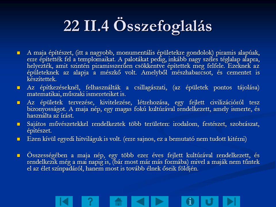 22 II.4 Összefoglalás