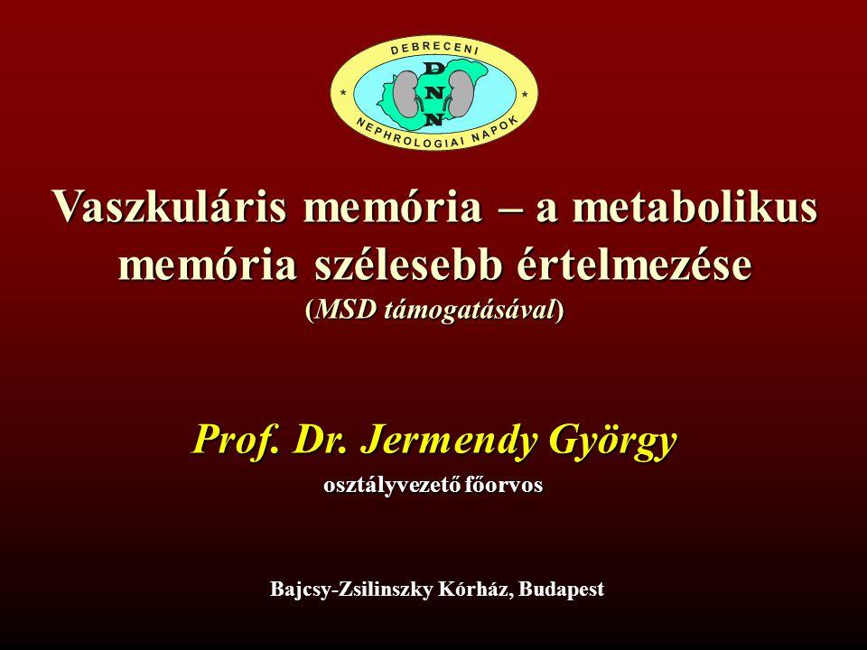 Vaszkuláris memória – a metabolikus memória szélesebb értelmezése