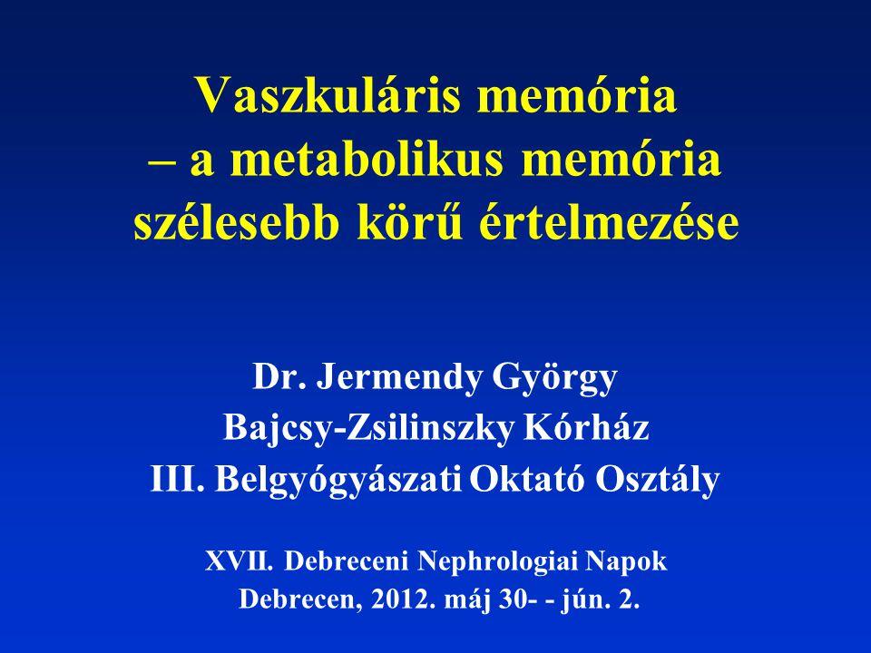 Vaszkuláris memória – a metabolikus memória szélesebb körű értelmezése