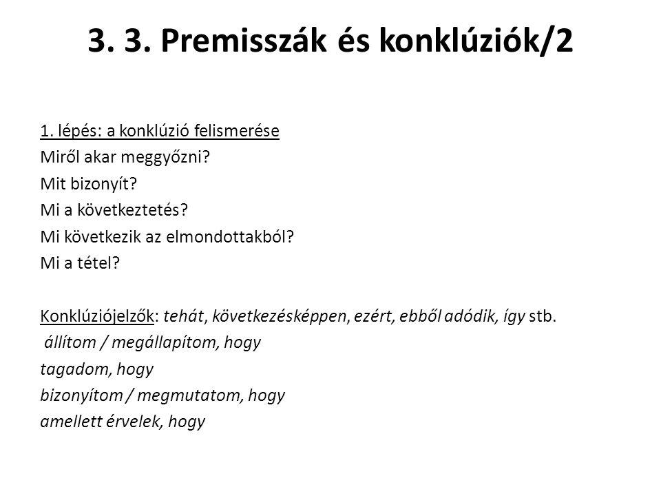 3. 3. Premisszák és konklúziók/2