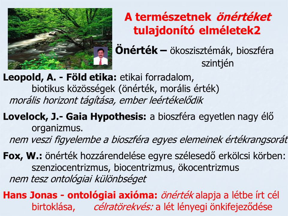 A természetnek önértéket tulajdonító elméletek2