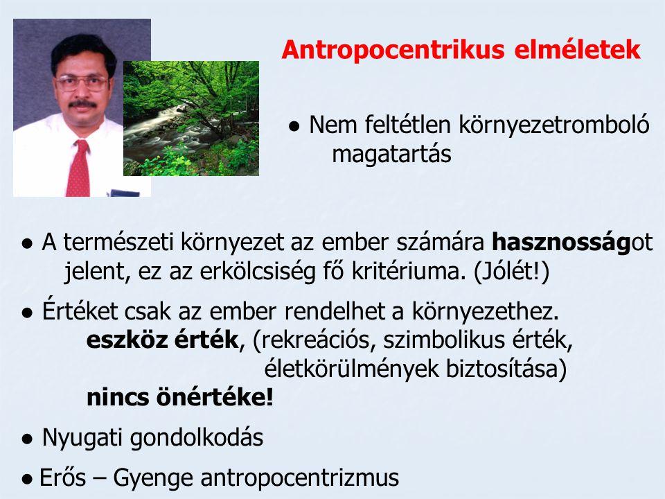 Antropocentrikus elméletek