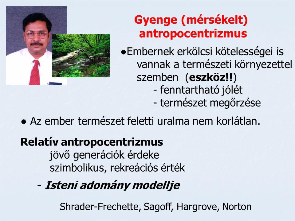 Gyenge (mérsékelt) antropocentrizmus