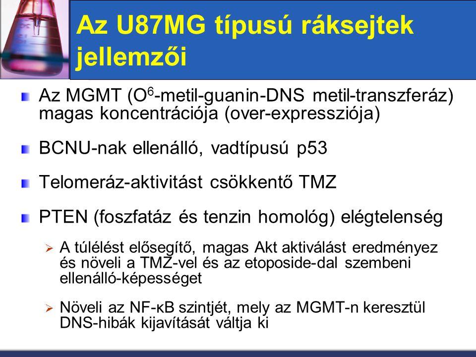 Az U87MG típusú ráksejtek jellemzői