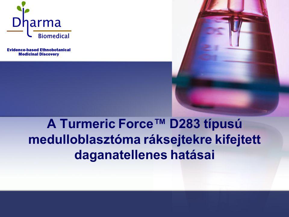 A Turmeric Force™ D283 típusú medulloblasztóma ráksejtekre kifejtett daganatellenes hatásai
