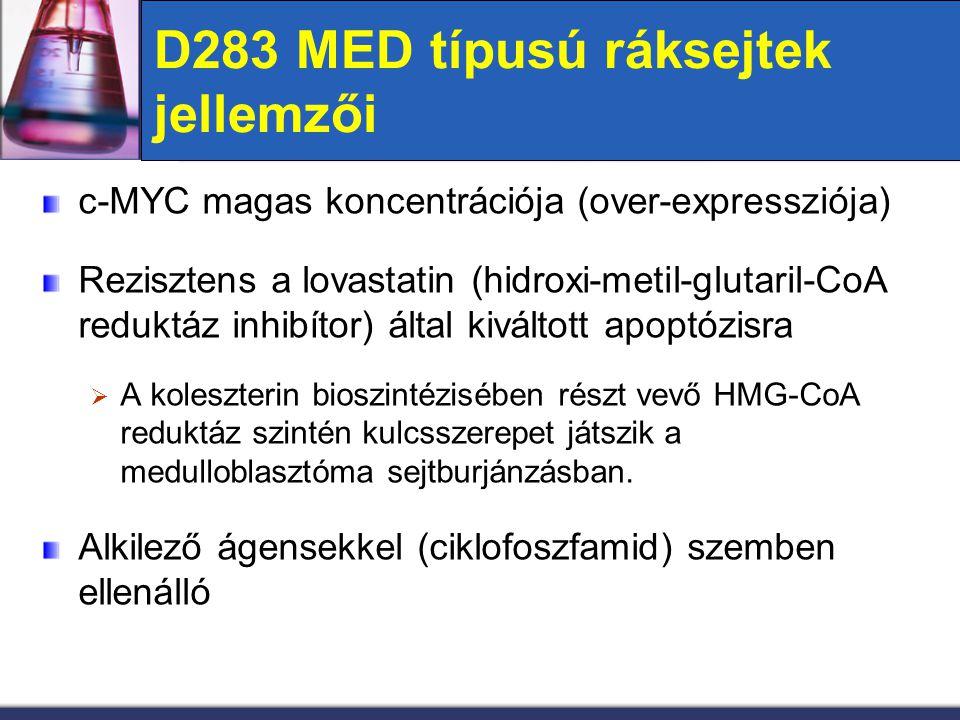 D283 MED típusú ráksejtek jellemzői