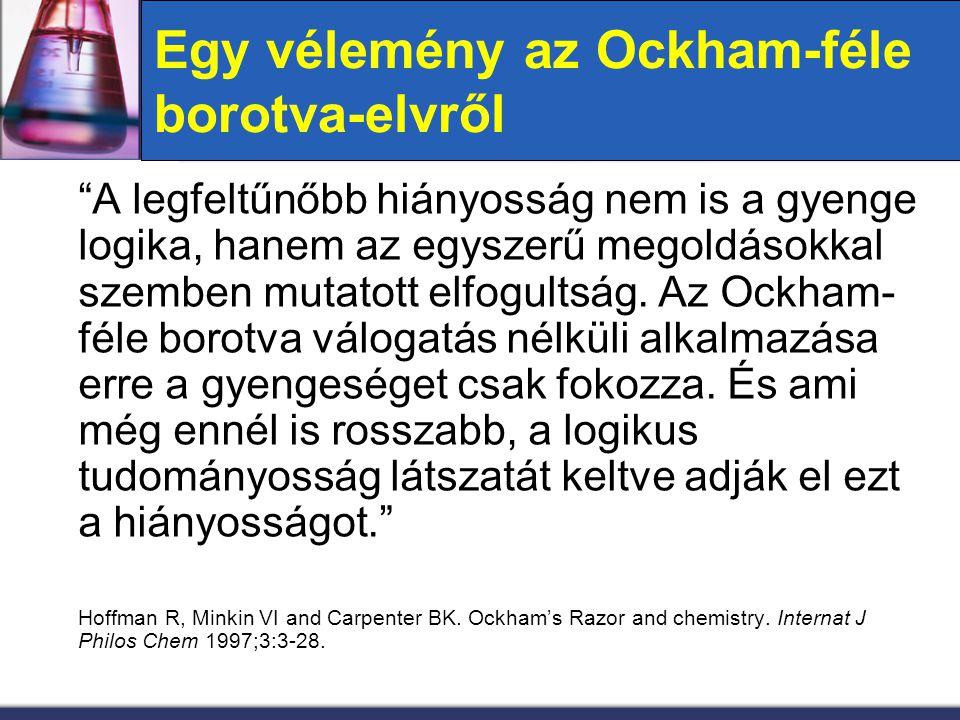 Egy vélemény az Ockham-féle borotva-elvről