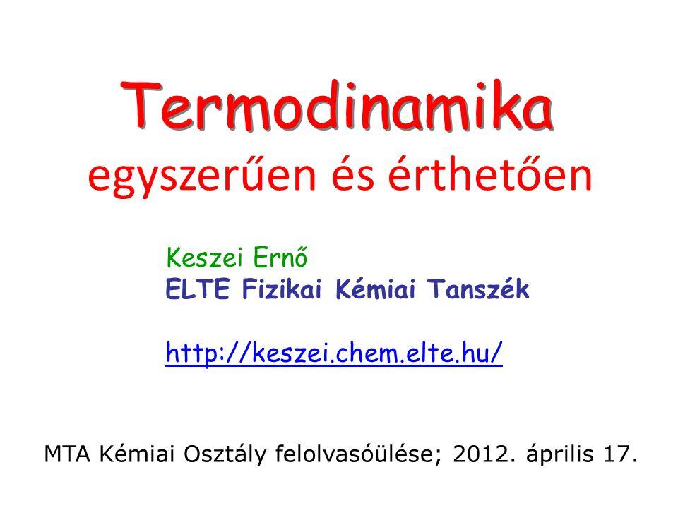 Termodinamika egyszerűen és érthetően